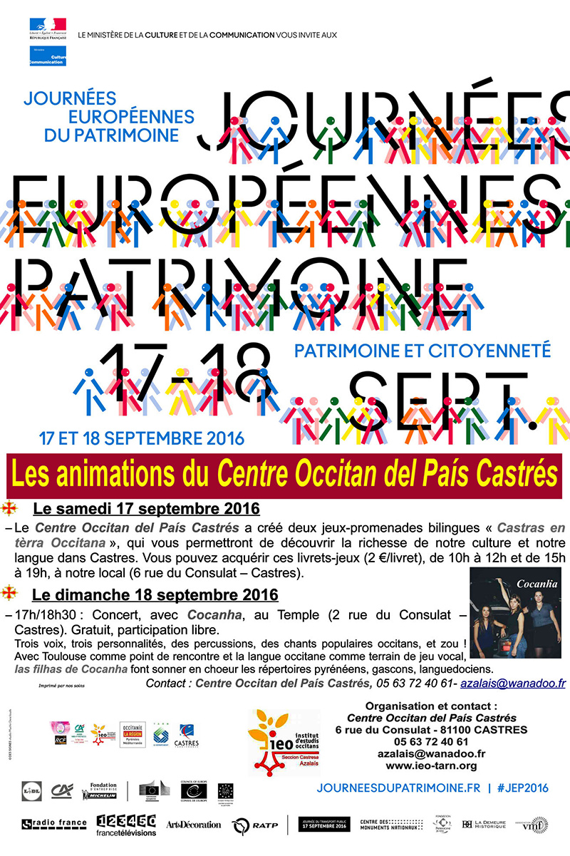 Journées du Patrimoine avec le Centre Occitan de Castres