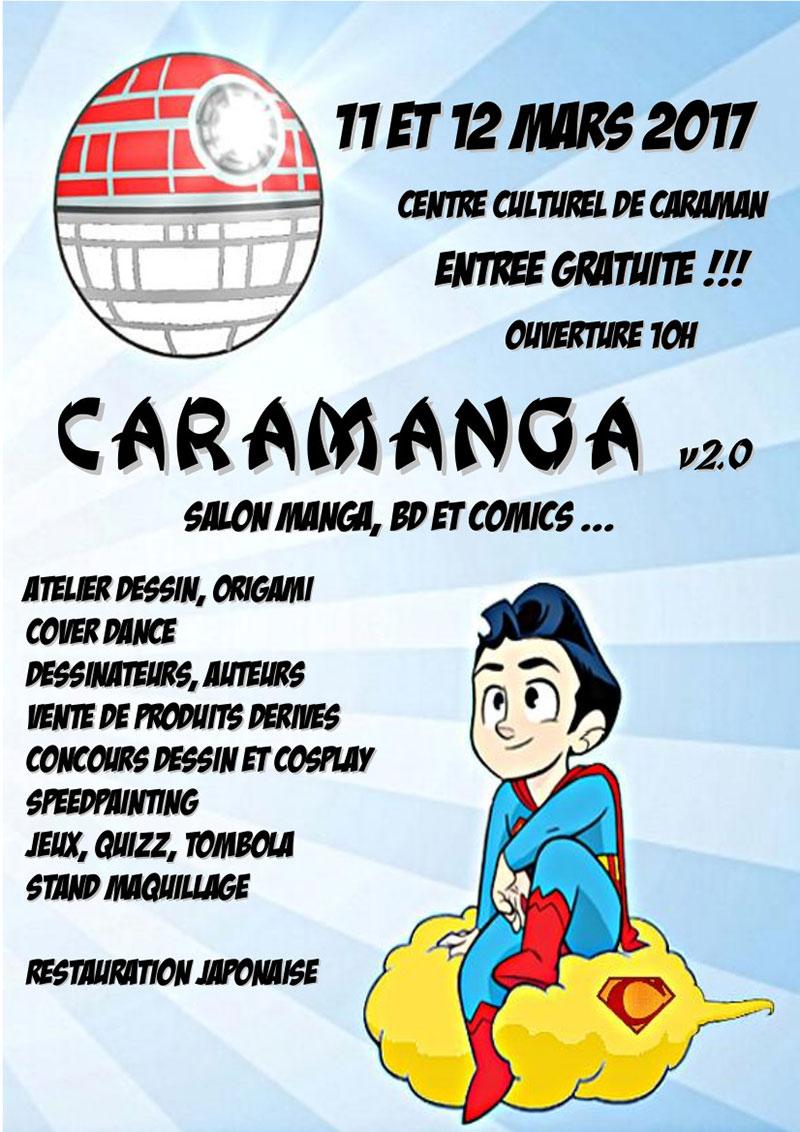 Caramanga : Salon Manga, BD, Comics de Caraman (31). Samedi 11 et Dimanche 12 Mars 2017.