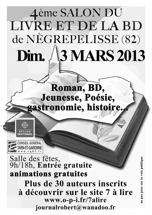 Salon du Livre et de la BD de Nègrepelisse (82)