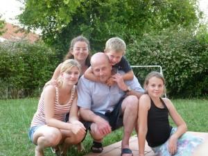 Nicole et sa famille d'accueil