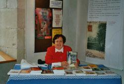 Christine Clairmont au salon de Sorèze (Tarn)