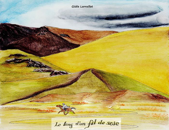 """""""Le long d'un fil de soie"""". Gisèle LARRAILLET"""