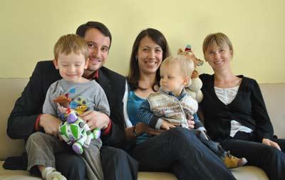 Anna et sa famille d'accueil