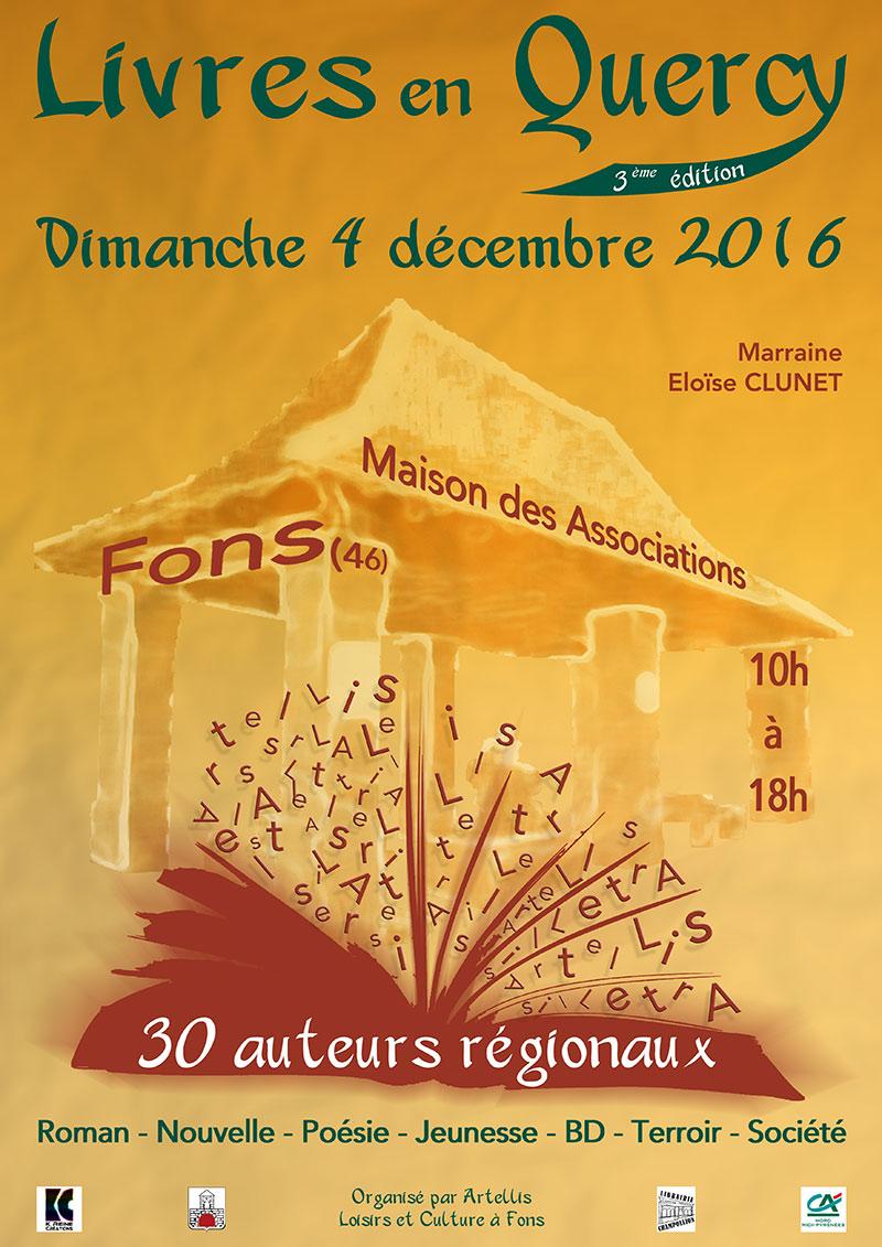Livres en Quercy à Fons (46). Dimanche 4 Décembre 2016.