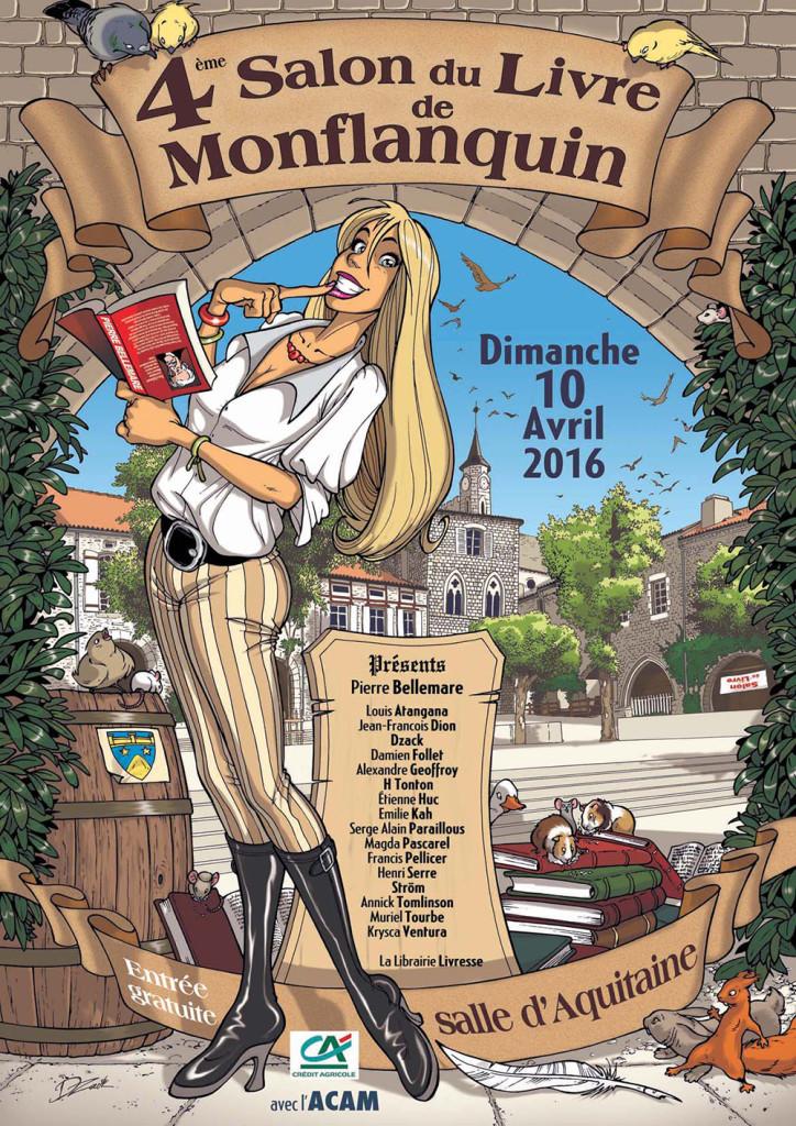 Salon du Livre de Montflanquin (47). Dimanche 10 Avril 2016.