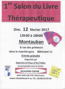 1er Salon du Livre Thérapeutique de Montauban (82). Dimanche 12 Février 2016.