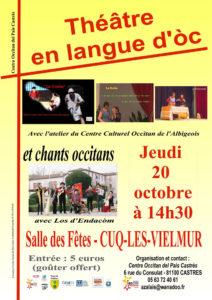 Théâtre en langue d'òc à Cuq-Les-Vielmur (81)