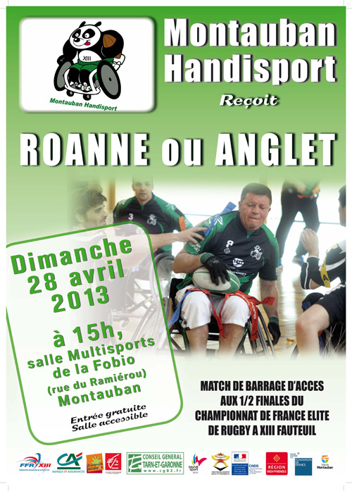 Match de rugby xiii fauteuil montauban parlons en - Point p montauban ...