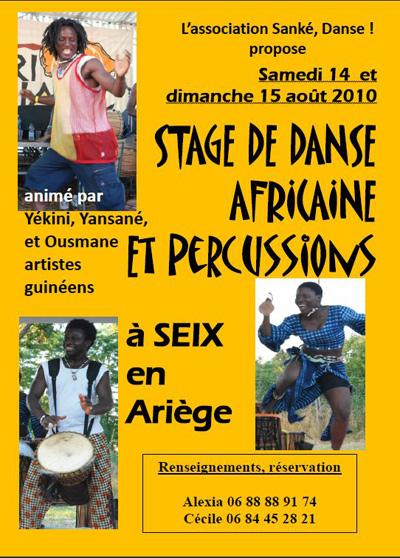stage de danse africaine et percussion avec sanke danse en ari ge parlons en. Black Bedroom Furniture Sets. Home Design Ideas