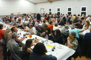 Le repas a réuni 160 personnes.