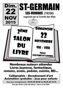 Salon du Livre 2015 - Saint-Germain les Vergnes