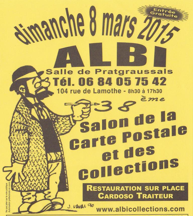 7 à lire ! » 38ème Salon de la Carte Postale et des Collections à Albi (81). Dimanche 8 Mars 2015