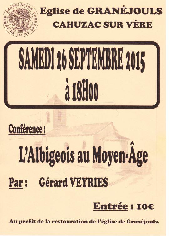 "Conférence ""L'Albigeois au Moyen Age"" - Gérard Veyriès"