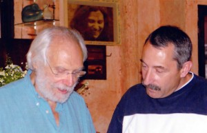 Patrick Caujolle et Georges Moustaki