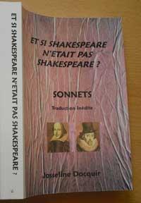 """""""Et si Shakespeare n'était pas Shakespeare ? Sonnets"""".  Josseline DOCQUIR"""