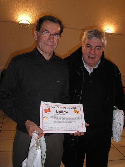 Après la DICTADA OCCITANA de La Vila Dieu del Temple, Joan Olivero s'est essayé à celle de Montauban comme Roland Garrigues, président de la Commission Culture du Conseil Général de Tarn et Garonne .
