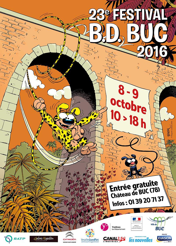 23ème Festival B.D. de Buc . Samedi 8 et Dimanche 9 Octobre 2016.