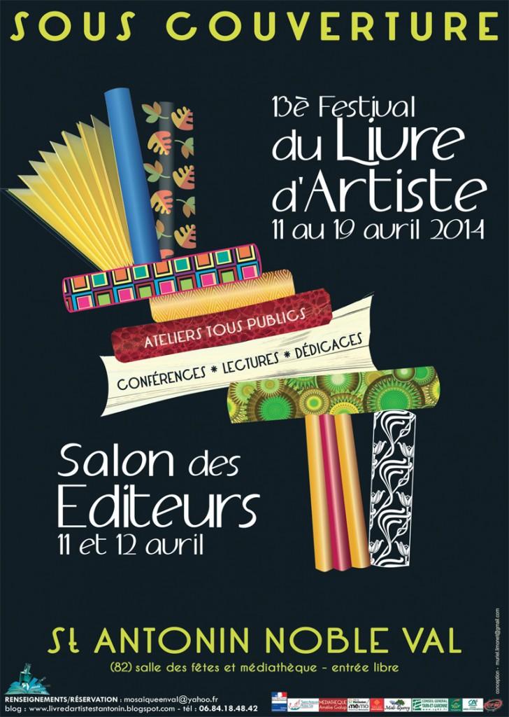 13ème salon du livre d'artiste de Saint Antonin Noble Val