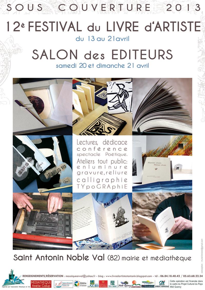 12ème Festival du Livre d'artiste de Saint Antonin Noble Val