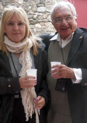 Marie-Chantal GUILMIN, marraine du salon de Monclar de Quercy 2013 et Marc GALABRU.