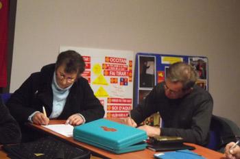 Jean Olivero a montré l'exemple en participant à la dictée du centenaire!