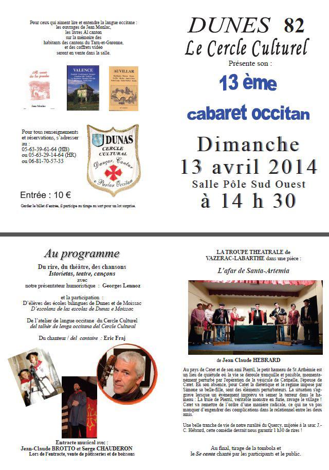 Programme Cabaret Occitan