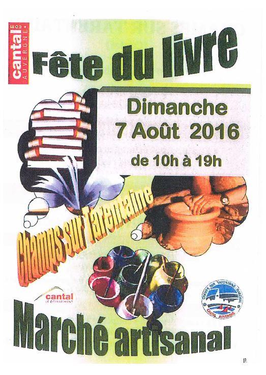 15ème Fête du Livre de Champs-sur-Tarentaine  (15).  Dimanche 7 Août 2016