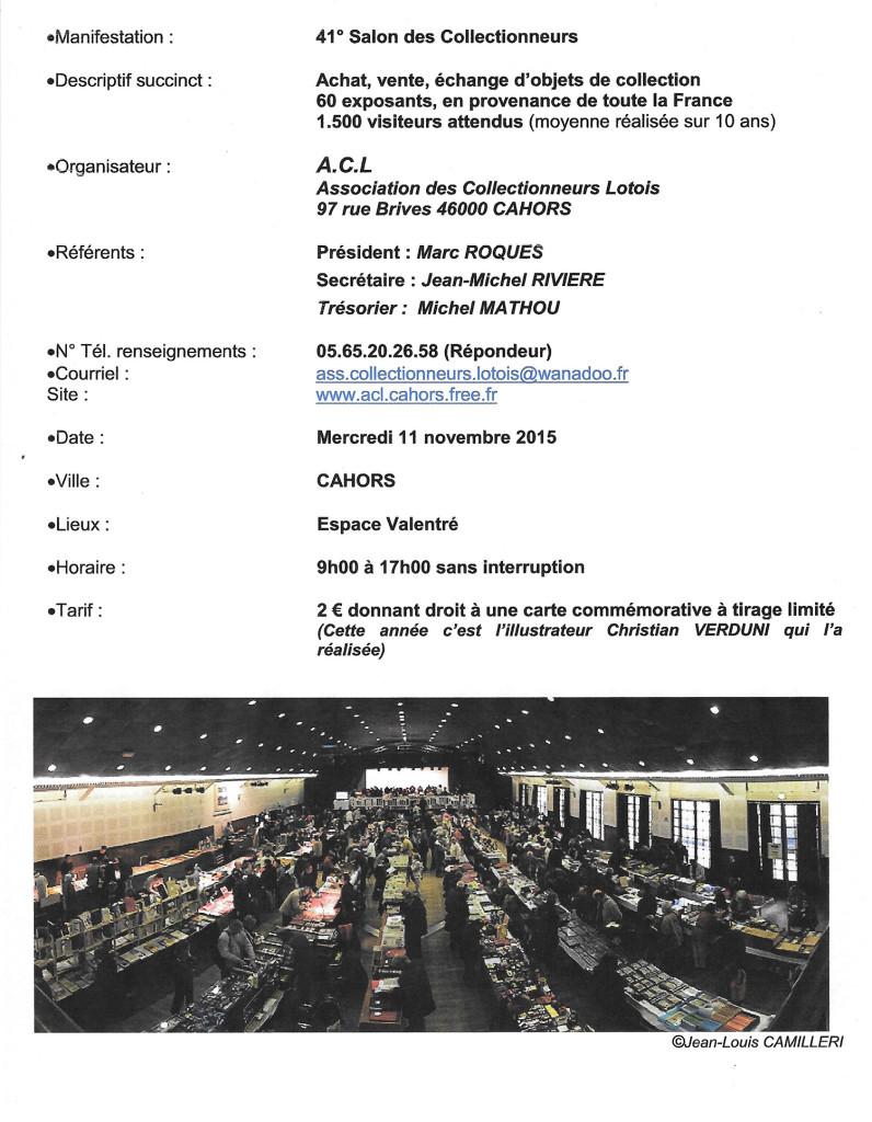 41ème Salon des Collectionneur - Cahors (46)