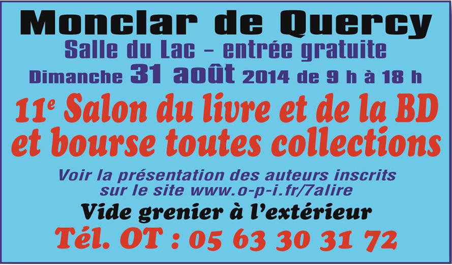 11ème Salon du Livre et de la BD à Monclar de Quercy (82)