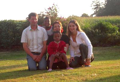 Tamara et sa famille d'accueil