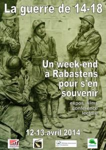 La guerre de 14-18, Un weekend à Rabastens pour s'en souvenir.