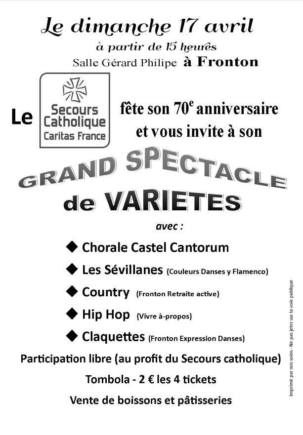 70ème anniversaire du Secours Catholique
