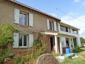 Visite : auto-rénovation d'un maison mitoyenne ... à Reyniès (82)