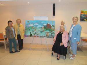Une fresque pour la semaine bleue ... à  Nègrepelisse (82)