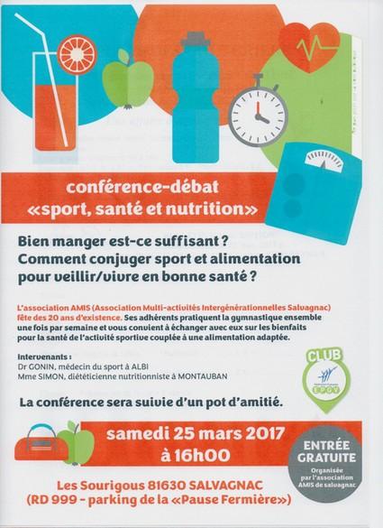 Sport santé nutrition