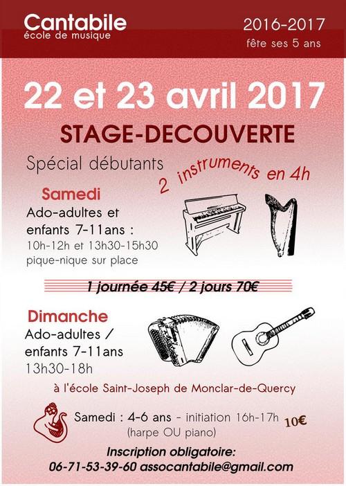 Stage Découverte Cantabile