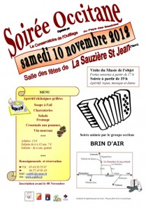 Soirée Occitane à La Sauzière Saint Jean (81)
