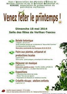 """""""Venez fêtez le printemps"""" à Verlhac-Tescou le Dimanche 18 mai 2014"""