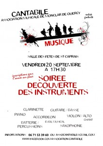 Ecole de Musique de Monclar de Quercy - Rentrée 2013