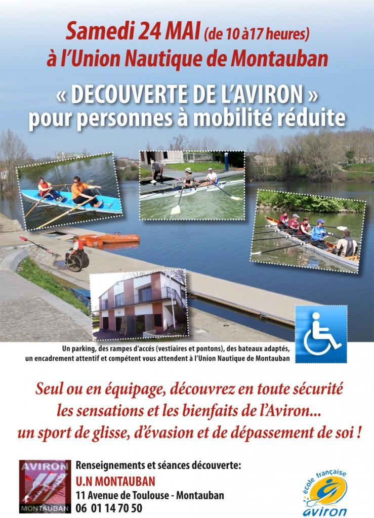 Découverte de l'aviron pour les personnes à mobilité réduite - Montauban (82)