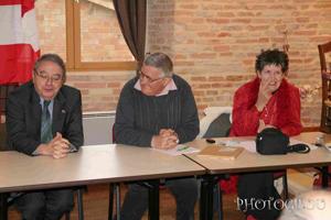 M. Georges Consalès, Consul honoraire d'Autriche, Robert Linas et Nadyne Vern Frouillou d'Autriche et Pays d'Oc