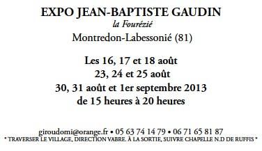 Agenda expo J.B. Gaudin