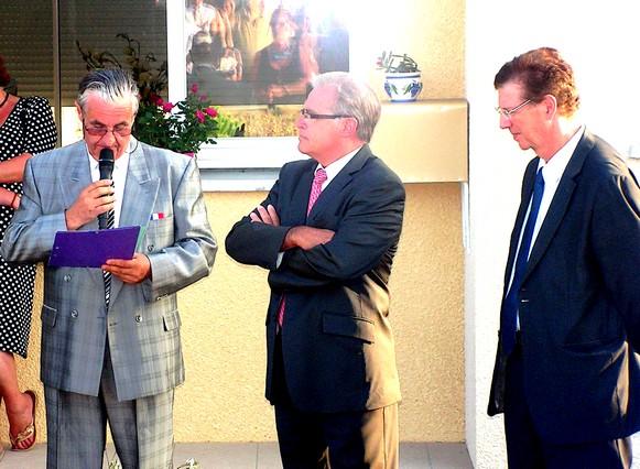 Allocution de Michel BUFFEL, maire, en présence de Thiérry CARCENAC et Jacques VALAX