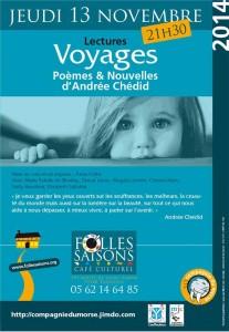 Soirée Lecture Andrée Chedid