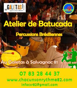 Atelier BAtucada avec Chacun son Rythme à Salvagnac (81)