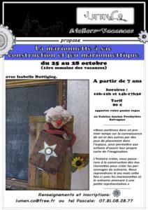 Atelier Vacances - La marionnette à sac - Salvagnac (81)