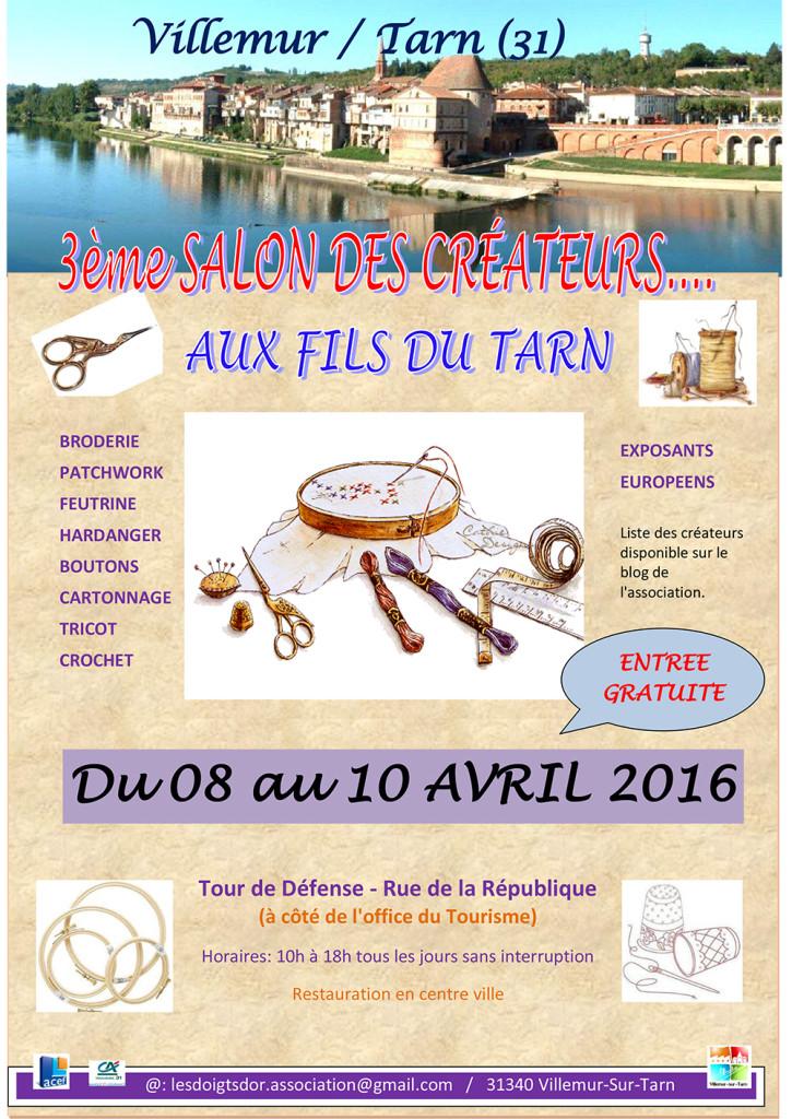 """3ème Salon des Créateurs """"Aux Fils du Tarn"""" ... à Villemur sur Tarn (31)"""