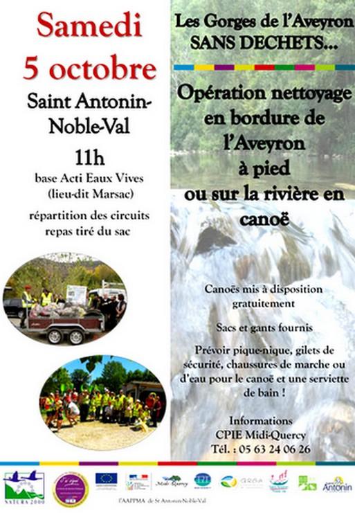 Gorges de l'Aveyron : opération nettoyage