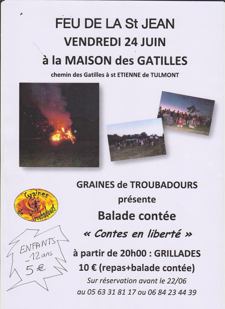 Feu de la Saint Jean et Ballade Contée ... à Saint Etienne de Tulmont (82)