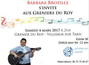 Barbara Brozille en concert ... à Villemur sur Tarn (31)